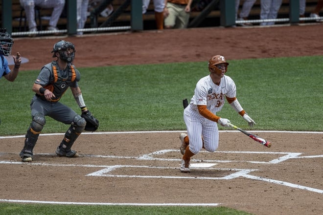 On Thursday, Outfielder Eric Kennedy and the Texas Longhorns take on Virginia in a College World Series elimination game.
