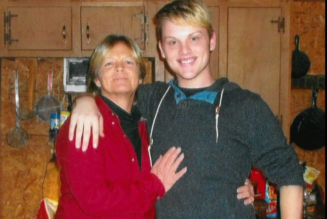 The late Stephen Smith with his mother, Sandy.