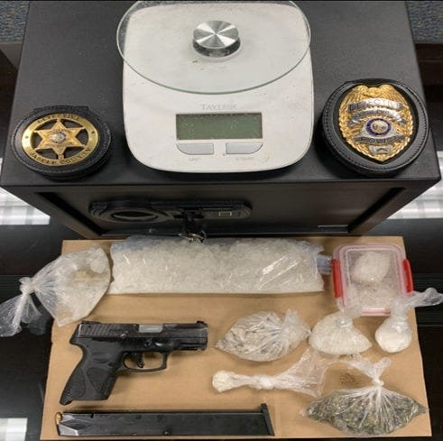 Police said they seized drugs, a stolen weapon and other items June 17 at a residence on Columbia Avenue in Hardeeville.