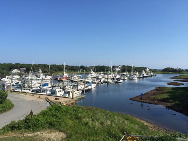 The view from Brax Landing restaurant in Harwich Port