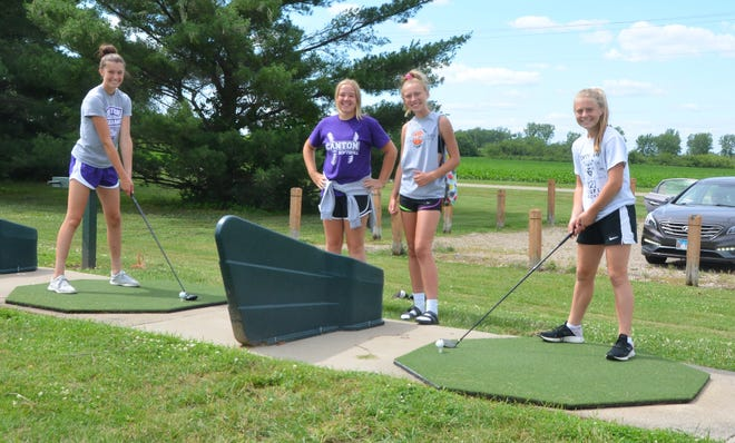 Pictured from the left are: Allison Wheeler, Natalie Downing, Ella Demler, and Brooklyn Dennis.