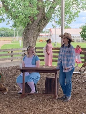 The Fulton County PlayHouse Children's show Dorothy in Wonderland: a Musical directed by Jennifer Cooper is being performed at the Fulton County Fairgrounds in the Cattle Arena.