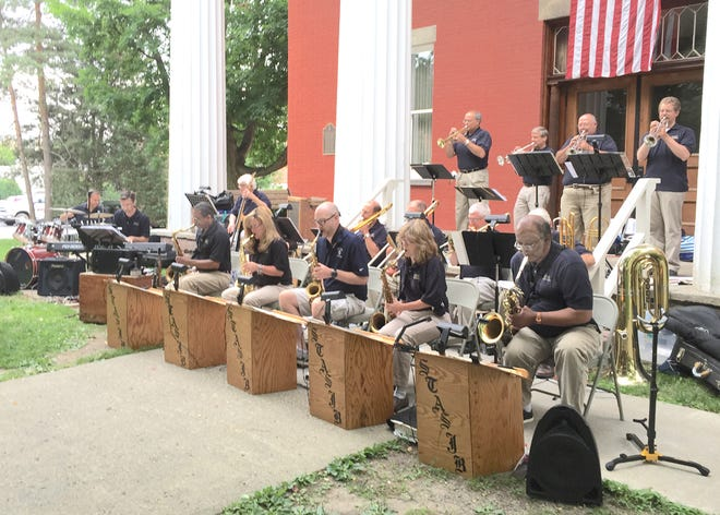 The Southern Tier All Star Jazz Band, including Jeff Stempien, will play the Wednesday night Concert on the Courthouse Lawn July 7 in Penn Yan.