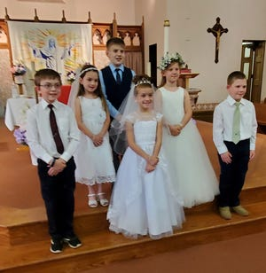 Our congratulations to these parish children who received Jesus for the first time in Holy Communion on Pentecost at St. Michael's Catholic Church.