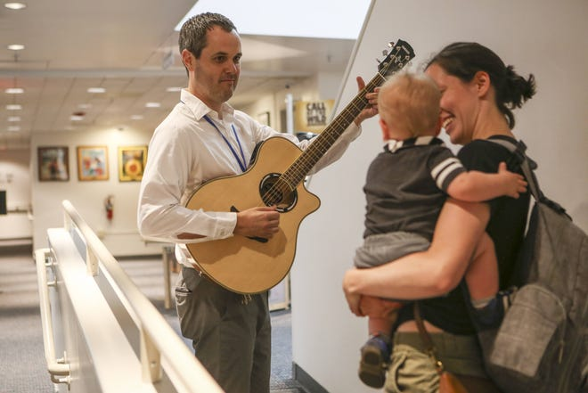 Acoustic guitars are just one of the items other than books that are available at the Grandview Heights Public Library.