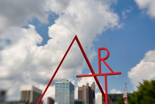 The iconic Art Sign at the Columbus College of Art & Design is celebrating 20 years.