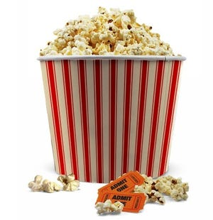 Unlimited popcorn refills are being offered at some area theaters through June 30 in honor of Cinema Week.