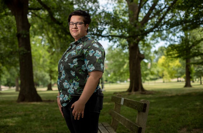 Lucas Coffman, 19, a speech and hearing major at Ohio State University rom Kansas City, says meeting new health care providers can be an uncomfortable experience and there should be classes in medical school about treating transgender patients.