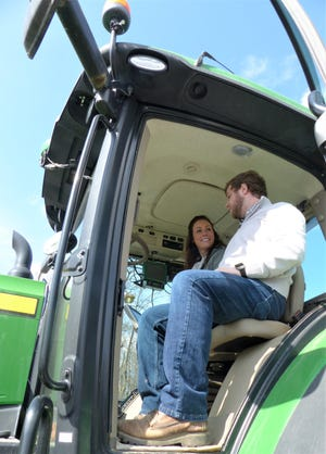 Leadership Holmes County students got an up close look at the inner workings of a tractor during a visit to a farm on an Agriculture Day experience.