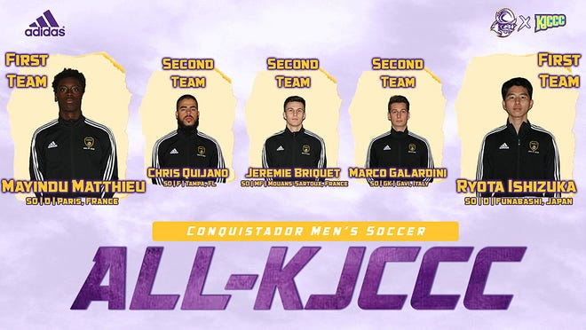 Five Dodge City Community College men's soccer players were named to the All-KJCCC squad recently.