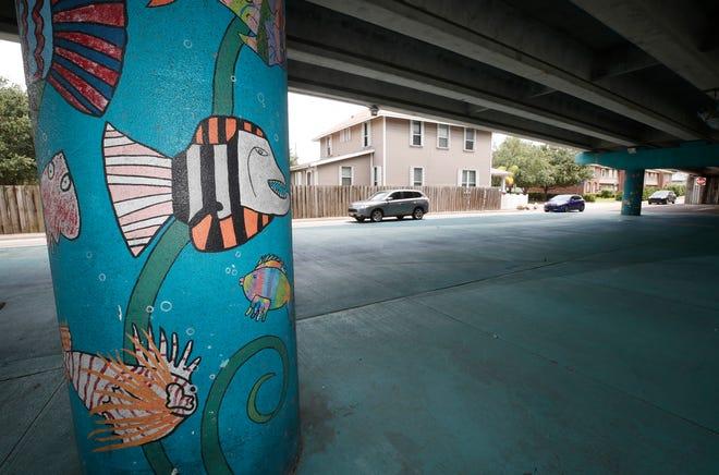 Mural under the Martin Luther King Jr. bridge overpass in New Smyrna Beach, Wednesday, June 23, 2021.