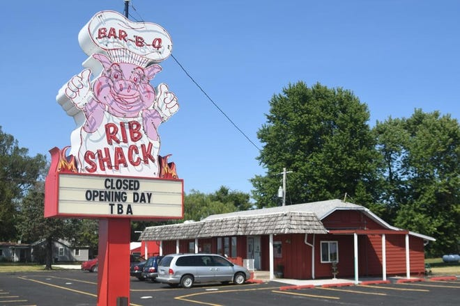 Rib Shack, located at 2203 U.S. 150 north of Galesburg, is pictured in this file photo as the barbecue restaurant prepared to open in August 2019. Rib Shack closed for business on June 4, 2021.