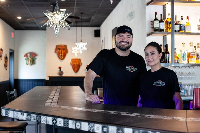 Co-owners of Fiesta Taco, Omar Marquez, Francis Torres at their restaurant in Horse Shoe June 23, 2021. Not pictured is co-owner Erika Torres.