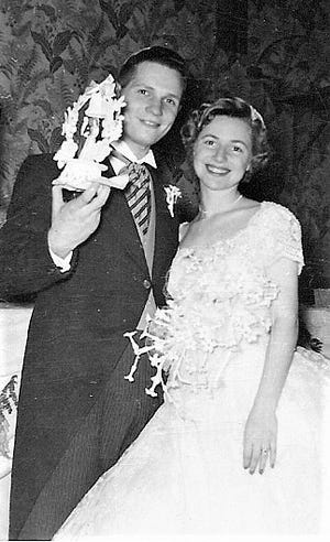Dr. Gerald and Lois Stone were married on June 10, 1956.