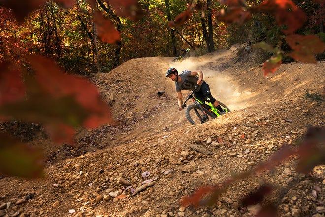 A mountain bike trail at Windrock Park in Oliver Springs near Oak Ridge.