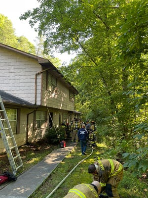 Three people are reportedly safe after a fire at an apartment complex on Glassboro Drive Wednesday, June 23, morning.