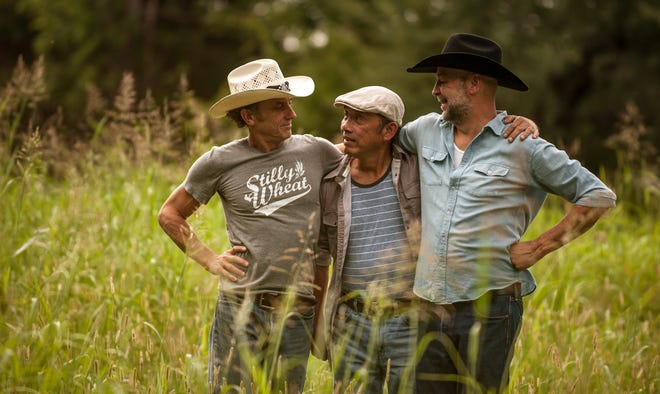 The Red Dirt Rangers will perform on July 4 at the Arcadia Round Barn. From left are Ben Han, Brad Piccolo and John Cooper.