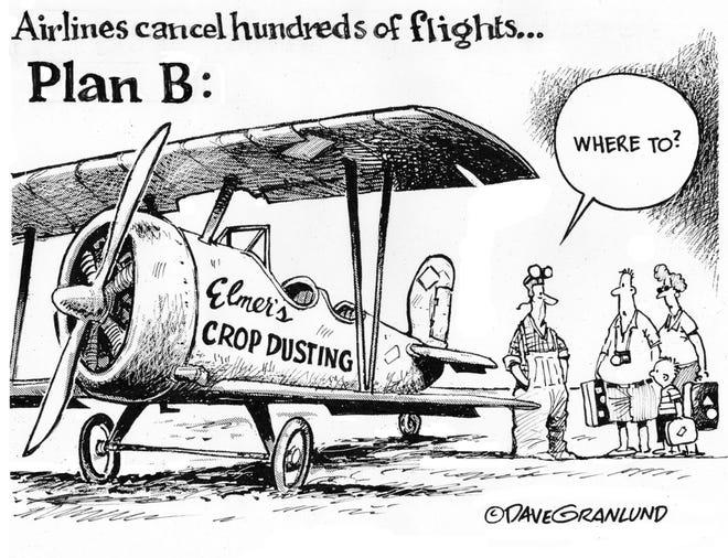 Dave Granlund: Plan B - Airlines cancel hundreds of flights
