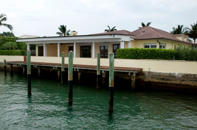 A house facing the inlet at 179 E. Inlet Drive in Palm Beach just sold for a recorded $11.5 million to the family that lives next door.