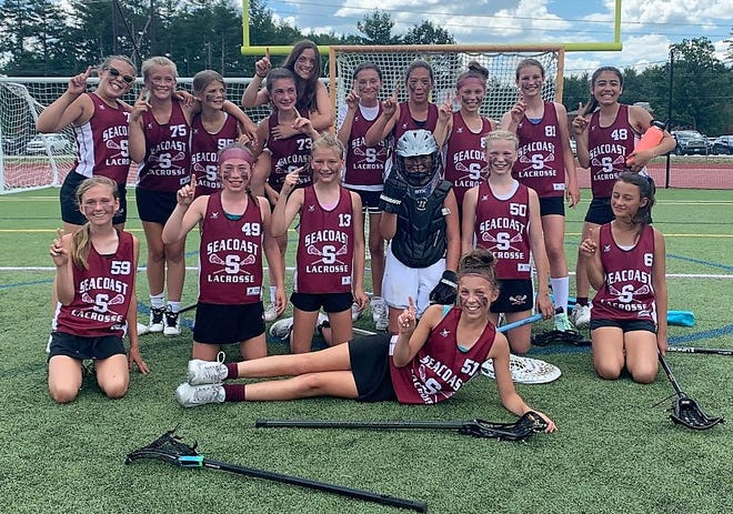 Seacoast Lacrosse won the New Hampshire Youth Lacrosse Association Tier One U12 girls championship with an 11-8 win over Windham last Sunday. Members of the team included Brea Barker, Brooklyn Barnhorst, Georgia Bouvier, Martha Brady-Schmoyer, Tessa Bresnahan, Luvy Danielson, Adelaide Deihl, Isabel Getman, Westerly Gray, Callen Hwang, Nevis Intoccia, Skye Intoccia, Emery Lawton, Raegan Lawton, Paisley Meyer, Liv Russo, Ava Souza, and Lowynn de longh. Coaches were Kirstin Lawson, Kelly Souza, and Chris Russo.