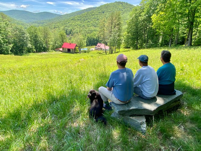 """The three college friends columnist Mark Patinkin joins annually for a """"Men's Weekend,"""" this year in Vermont, not far from where they went to college."""