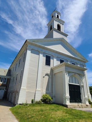 The First Baptist Church of New Bedford,  now the Steeple Playhouse, where Henry Robert found his inspiration.