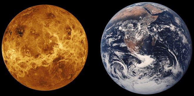 Venus & Earth together, for comparison.