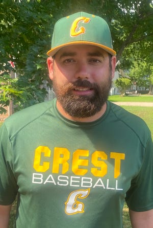 Crest baseball coach Adam McFarland