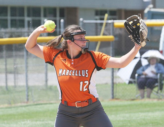 Erin Morgan's primary fielding slot at Marcellus was third base, but she's open to other positions at the college level.