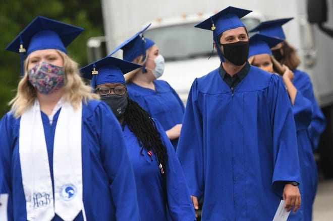 Cape Fear Community College hosted a drive-in graduation ceremony for Fall 2019, Spring 2020, and Summer 2020 graduates at its North Campus in August of 2020, in Wilmington, N.C..