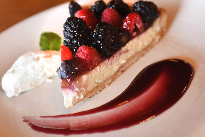 The Summer Berry Tart served at The Beach Shop and Grill in Topsail Beach, N.C. [KEN BLEVINS/STARNEWS]