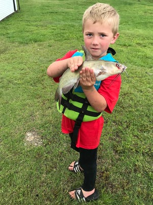 Liam Lauer, 5, of Chase County, holds up a catfish he caught while fishing with his parents on May 31. To submit a photo for the Keeper Corner, send an email to jrouse@cjonline.com with the photo and any pertinent information, including the subject's name, age and city of residence.