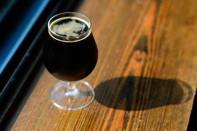 The TexaKan Stout by Willcott Brewing out of Holton is on tap at Brew Bank for $.30 an ounce, or about $5-6 a glass.
