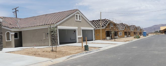 The first phase of nearly 200 apartment-style homes in Hesperia — dubbed the Olive Tree Apartments — should be ready for tenants by September, according to property manager Brody Sanchez.