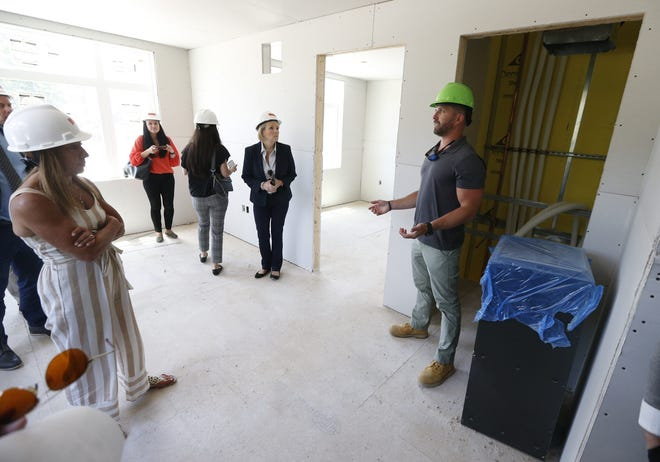 The Gordon H. Mansfield Veterans Community is a new apartment building that is under construction. The 70 unit building will provide permanent housing for veterans including those who are transitioning from homelessness.                                      Tinton Falls, NJWednesday, June 23, 2021