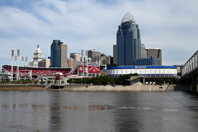 The downtown Cincinnati Skyline photographed on Wednesday, June 23, 2021.