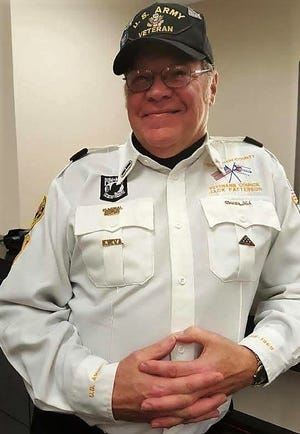 Jack Patterson of West Lafayette recently participated in his 1,000th military funeral as a member of the Coshocton County Honor Guard. He joined the group in 2006 and became chaplain in 2008. Patterson served in the U.S. Army during the Vietnam War era and is the VFW  representative on the Veterans Service Commission.
