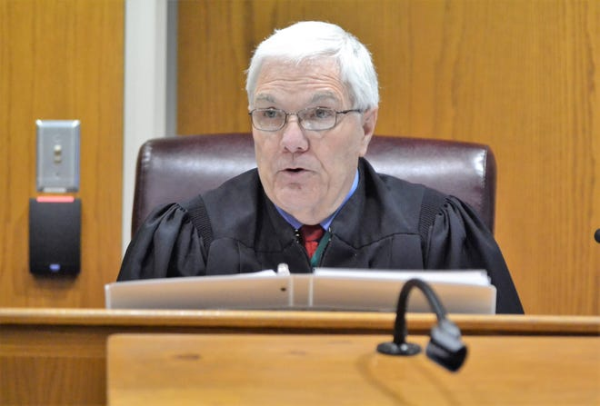 Marinette County Circuit Court Judge James Morrison speaks during a hearing Tuesday, June 22, in the case Raymand Vannieuwenhoven, charged in the murders of of a Green Bay couple in Marinette County in 1976.