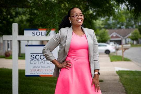 Jenna Phillips at an east-side home she recently sold.