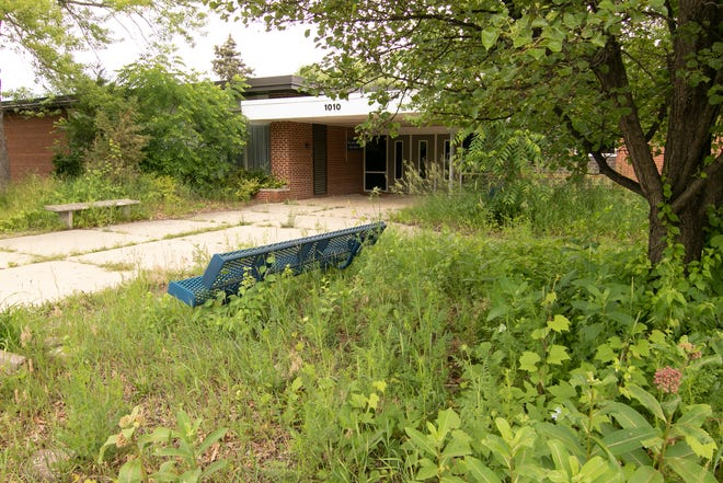 The former Lindbom Elementary in Brighton, shown Wednesday, June 23, 2021, remains unused, as neighboring residents objected to proposed use before the planning commission.