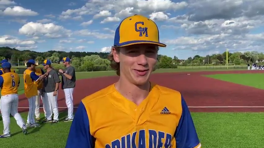 Postgame with Catholic Memorial sectional final walk-off hero Grant Beth