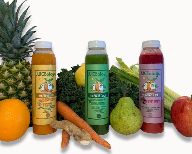 JUICEology serves cold-pressed juices.