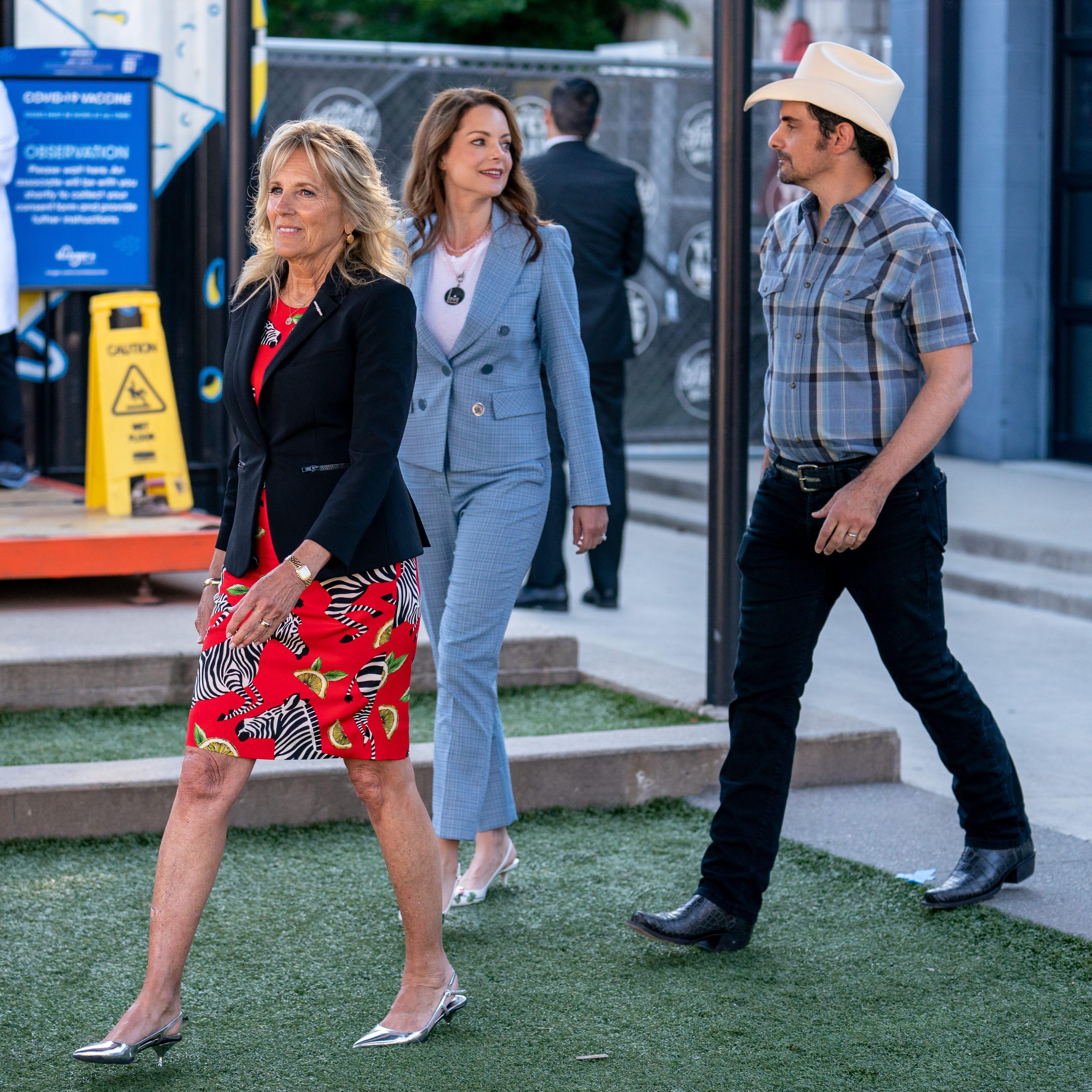 Jill Biden's Nashville stop on COVID-19 vaccine tour