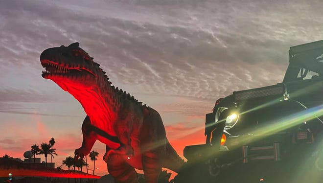 Jurassic Empire, a drive-thru exhibit of 70 dinosaur models, will visit Las Cruces June 25, 26 and 27, 2021 at the Southern New Mexico Fairgrounds.