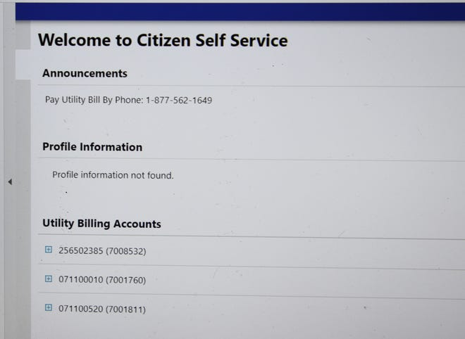 A screen shot of the June 22, 2021 Carlsbad City Council agenda showed profile information from a new computer billing system implemented by the City. It is set to go online in late July.