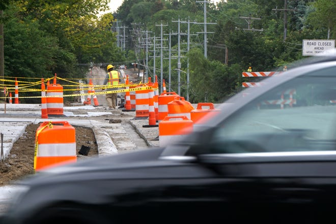 Maple Road, east of Inkster Road, is undergoing some major road work this summer with access restricted to local traffic only.