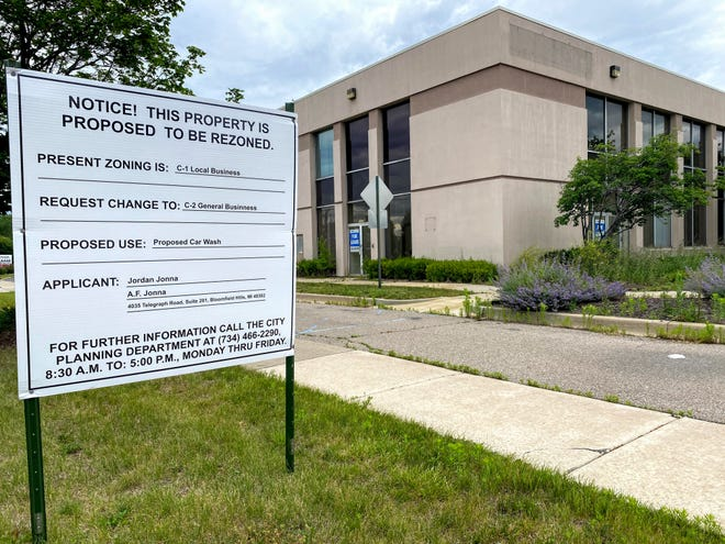 A Tommy's Express Car Wash is proposed at this former Bank of America building on Six Mile east of Newburgh in Livonia. The city's planning commission voted during its June 15 meeting to recommend denial of the rezoning request to allow for the car wash.