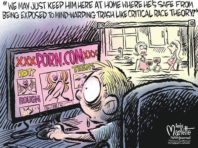 Marlette cartoon: Brainwashed