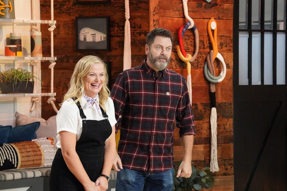 How Amy Poehler and Nick Offerman s  Making It   tricked  NBC:  Nick and Amy: 1, NBC: 0