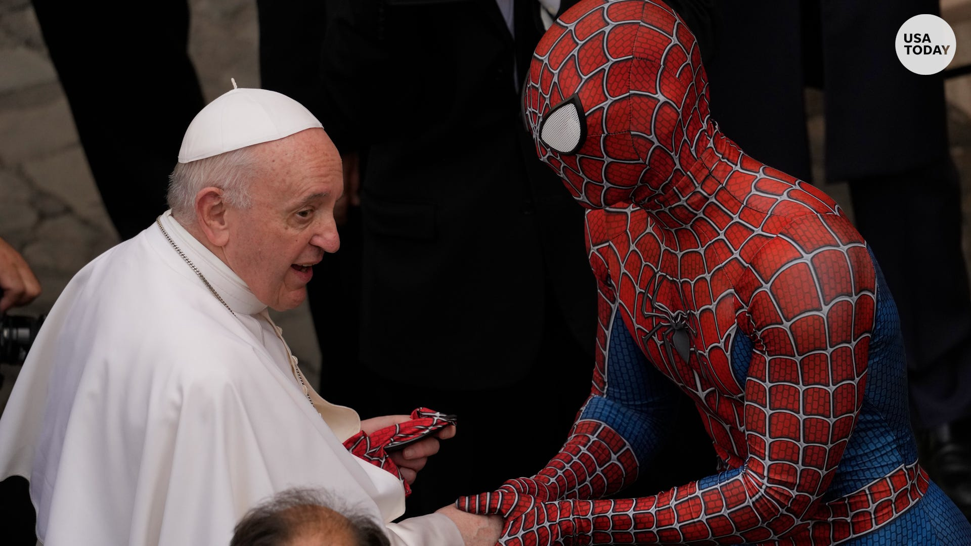 'Spider-Man' visited Pope Francis at the Vatican for a very special reason